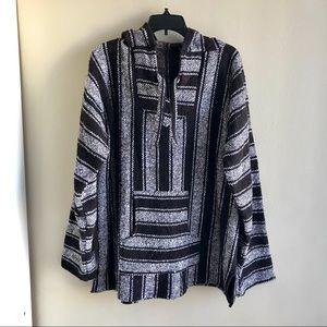 🔥SALE Unisex Mexican Striped Blanket Hoodie